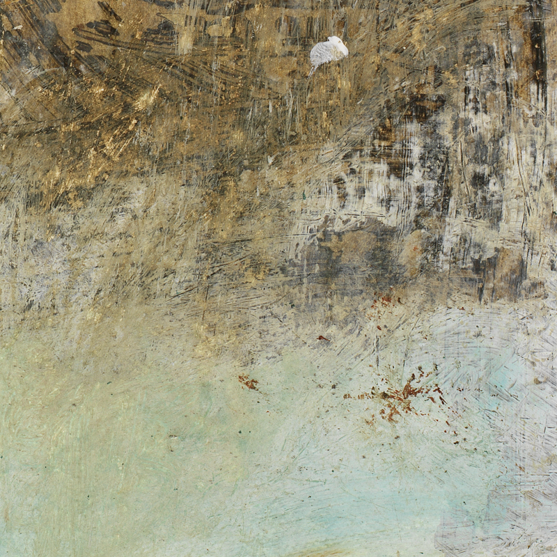 close-up of original contemporary abstract art giclee print by Michel Keck fine art publishing