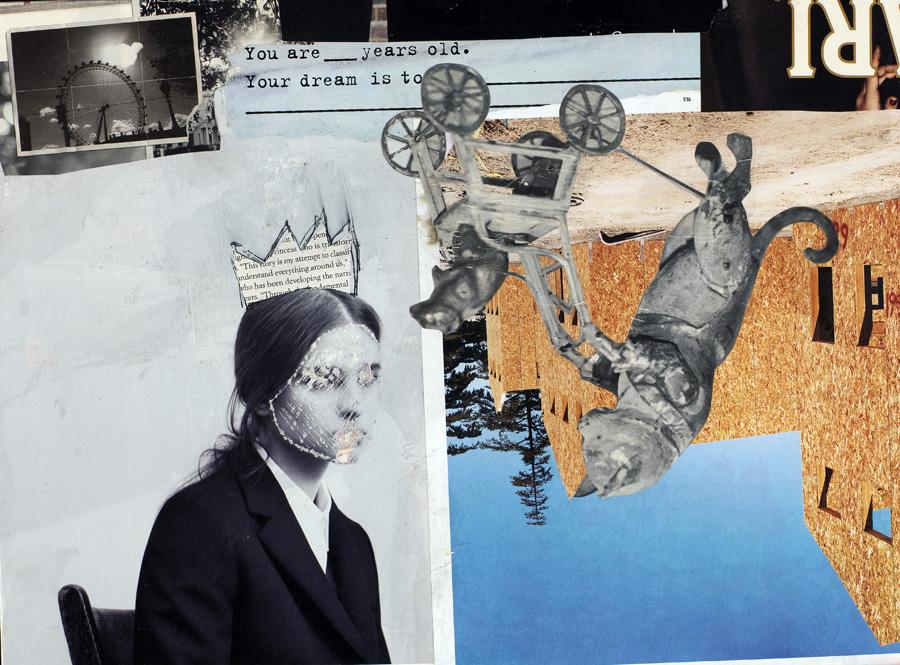 collage art print print of keck michel keck collage