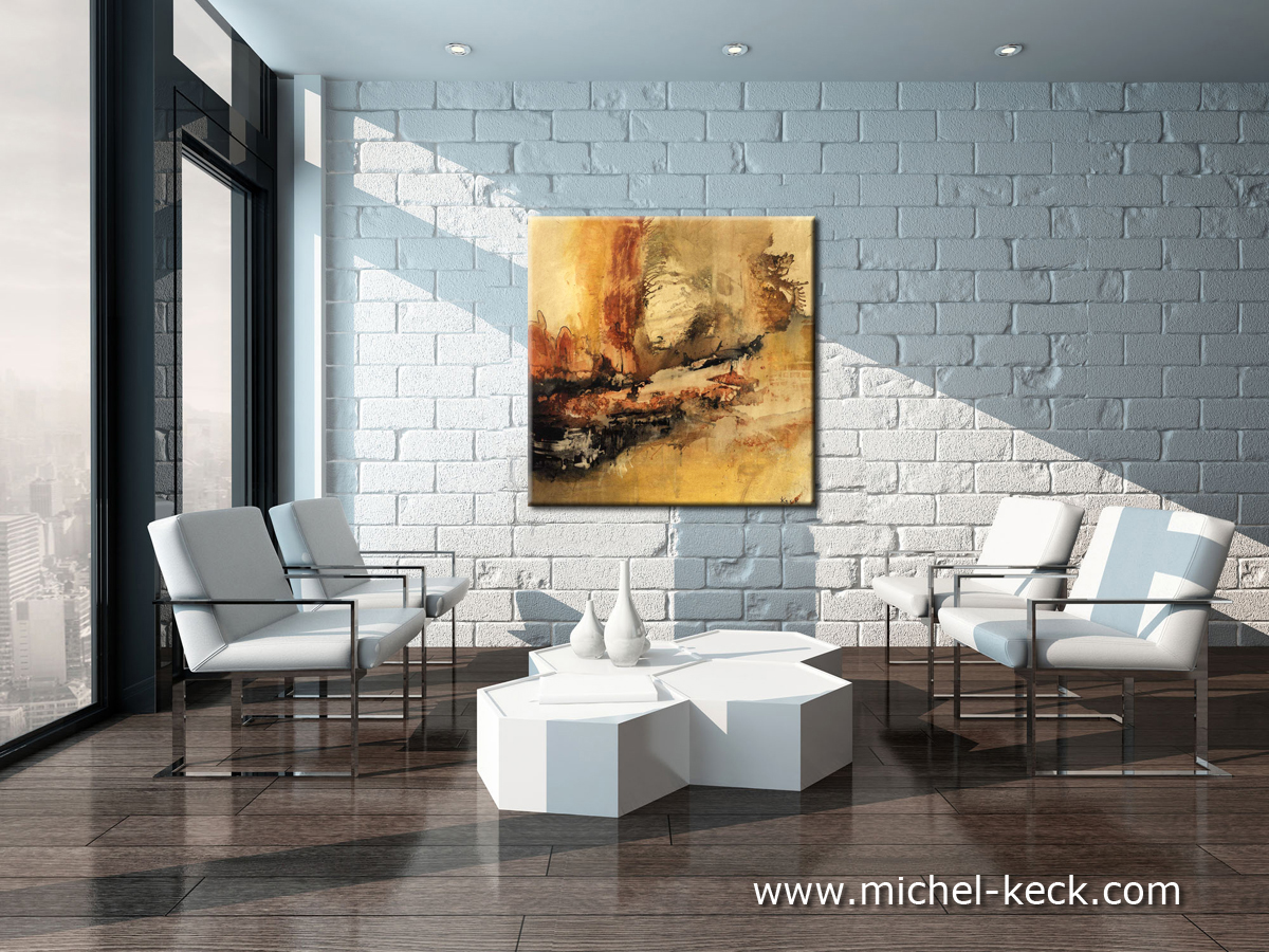 abstract art painting by keck