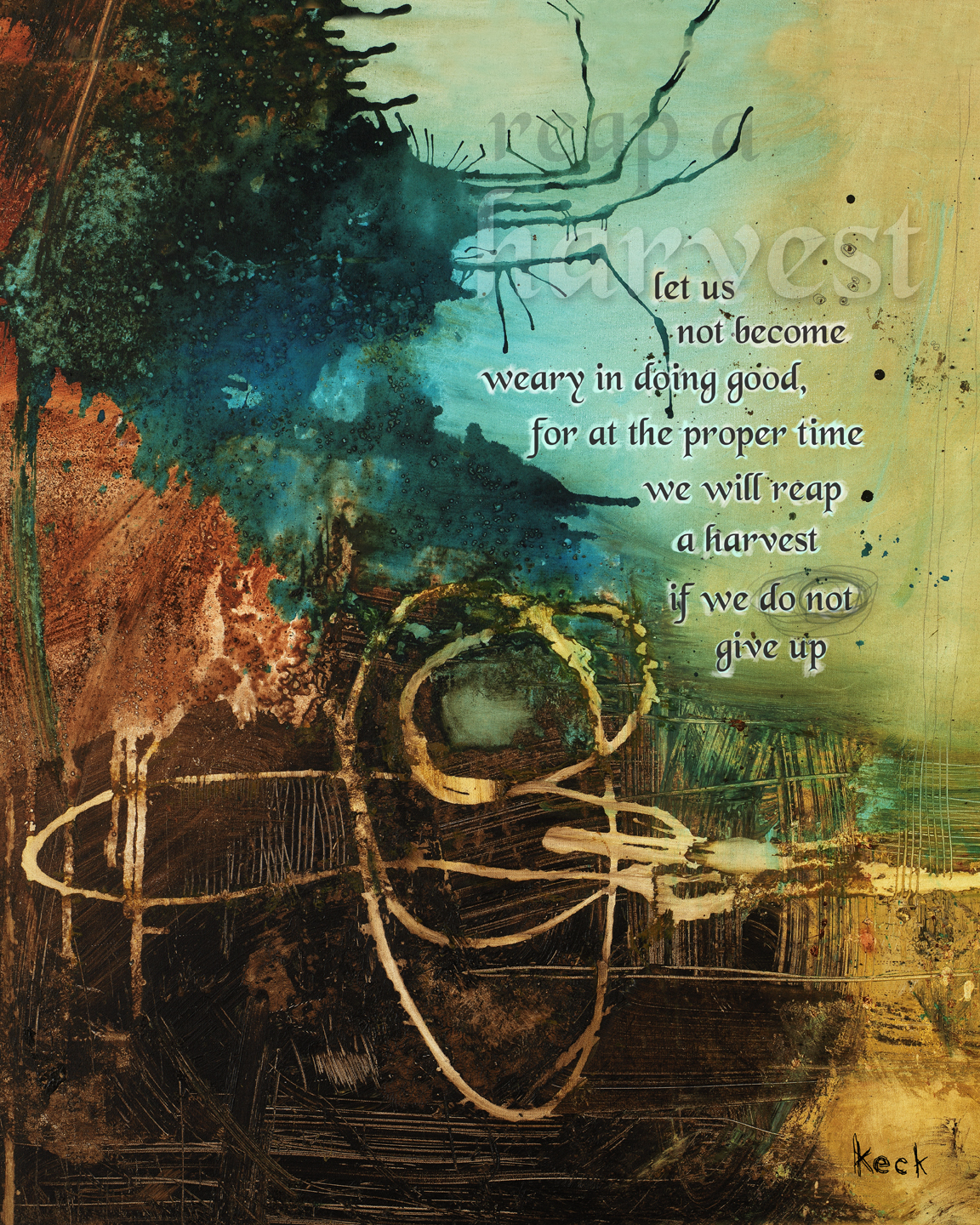 spiritual art religious scripture abstract art print