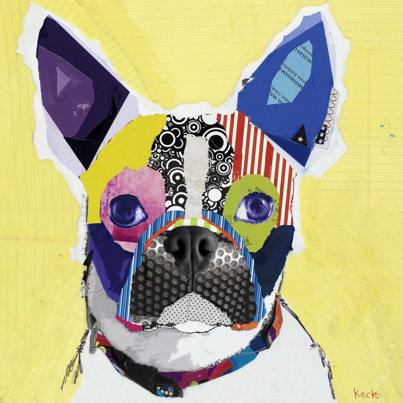 terrier dog art collage