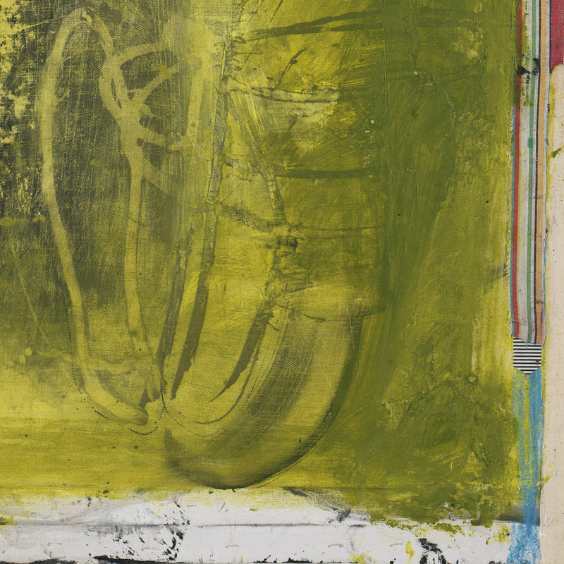 close-up of original contemporary abstract art painting by Michel Keck