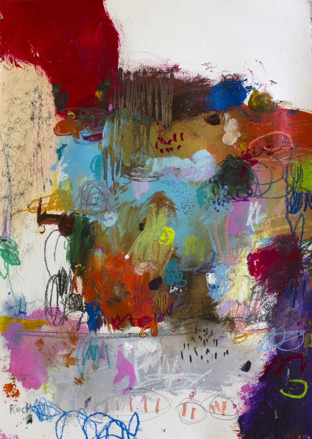 abstract art wall decor by michel keck