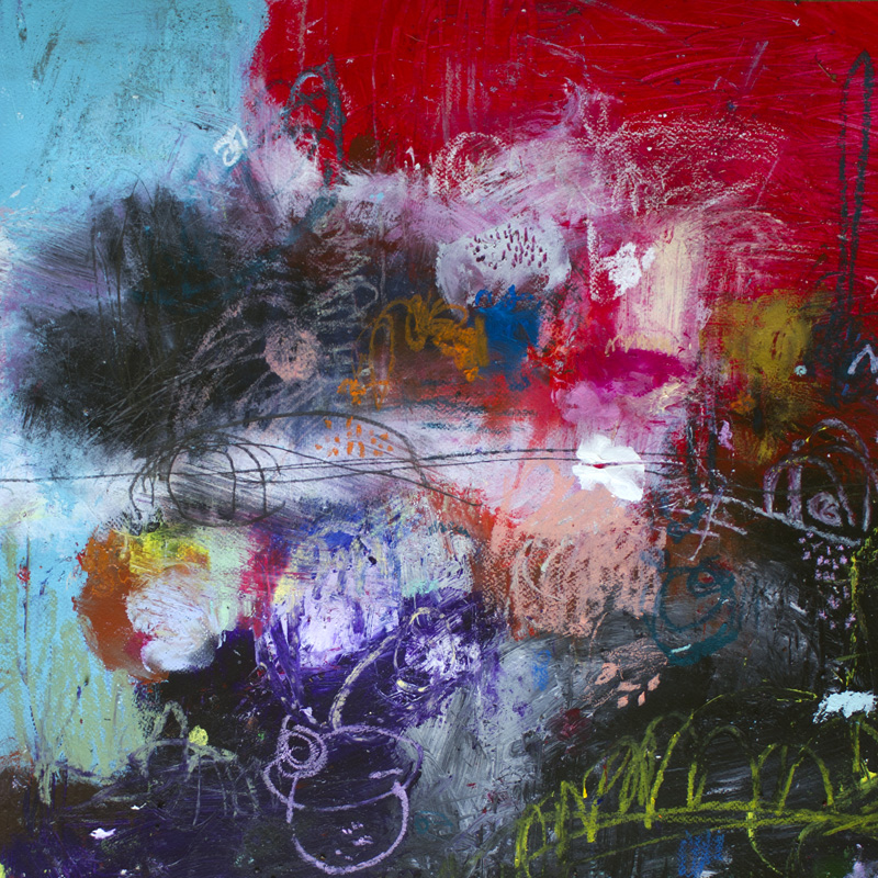 abstract art print on canvas by michel keck