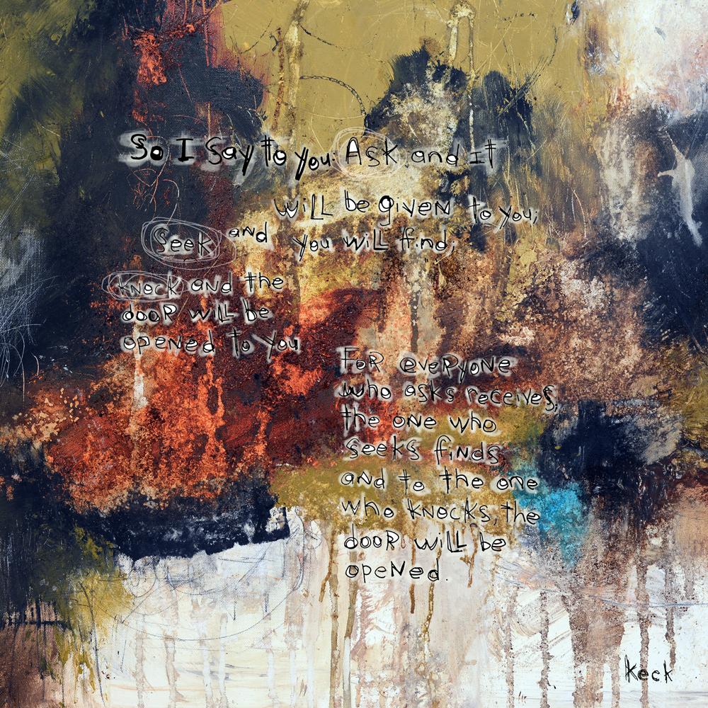 spiritual art religious scripture abstract art print